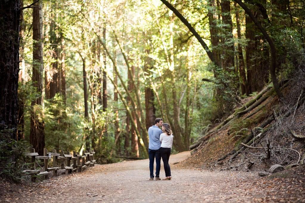 redwood regional park engagement photo