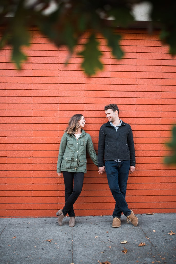 downtown oakland engagement photo