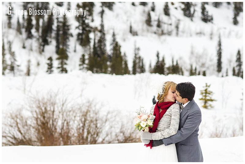 www.greenblossomphotography.com, The Bridal Collection photo, Breckenridge wedding photo, Colorado Winter Wedding photo, MENTE hair and make-up photo, The Painted Primrose wedding flowers photo, Pronovias Ojeda wedding dress photo