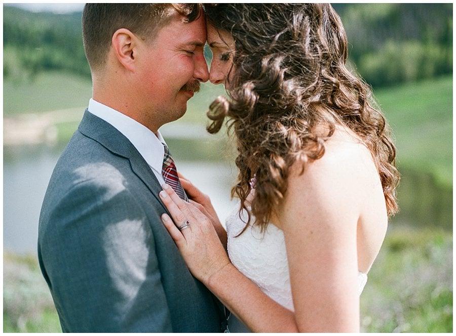 Snow Mountain Ranch medium format film wedding photo