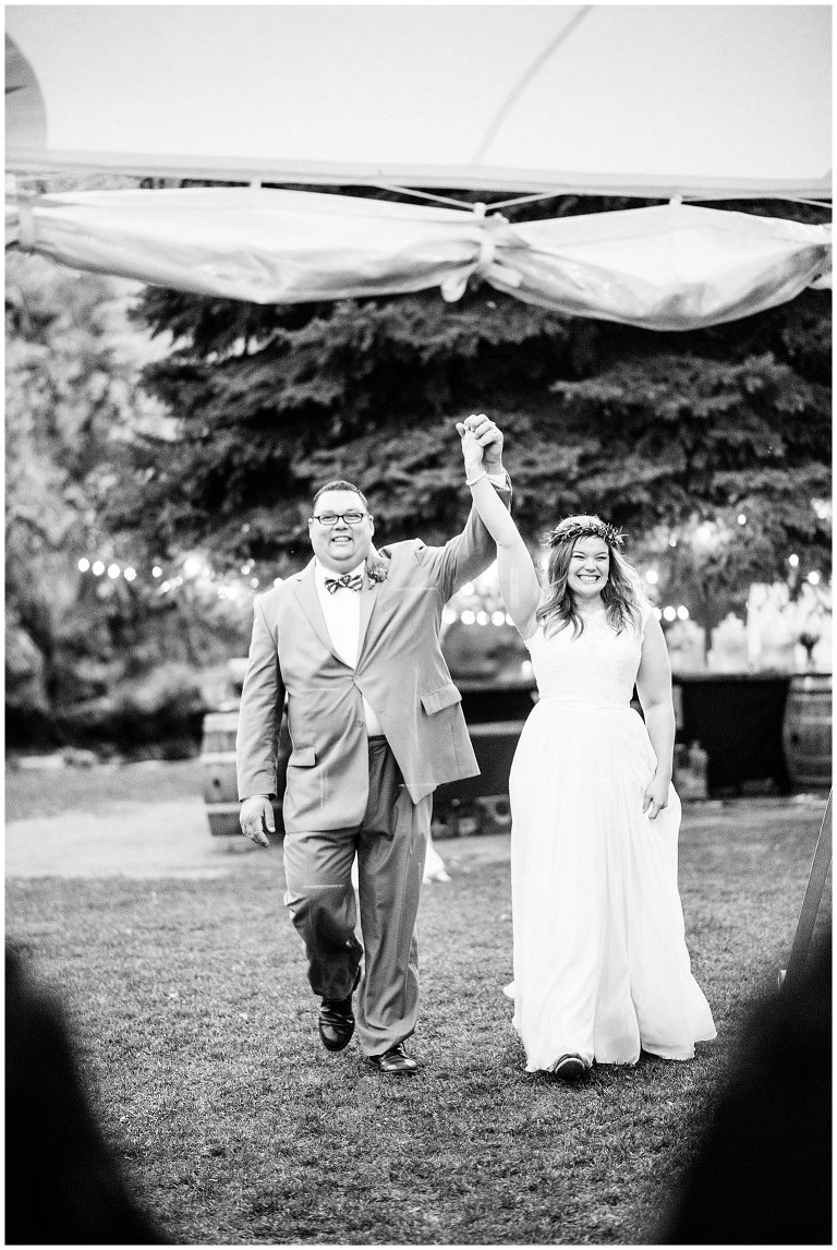 Lyons River Bend intimate wedding reception photo 14
