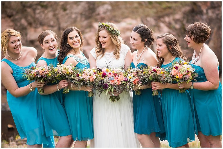 bridal party Lyons wedding photo