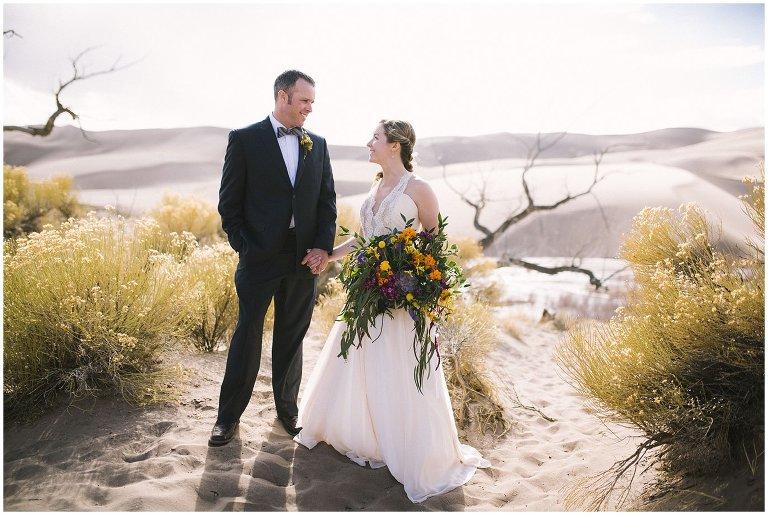 Great Sand Dunes National Park wedding photo