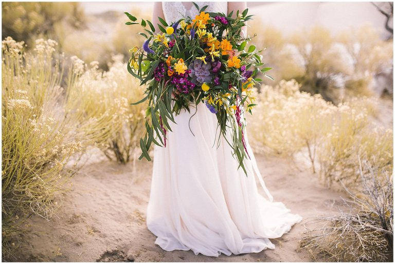 cascading wedding flowers with succulents photo