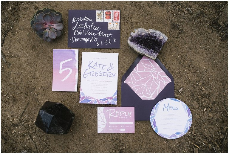 geometric wedding invite photo