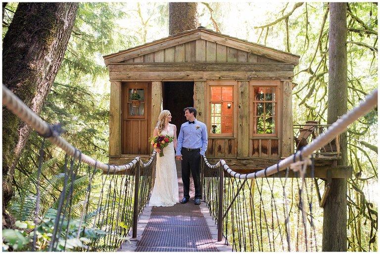 Treehouse Point Wedding photo