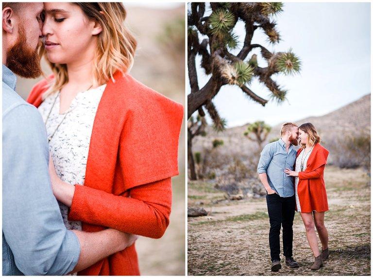 California desert engagement shoot photo