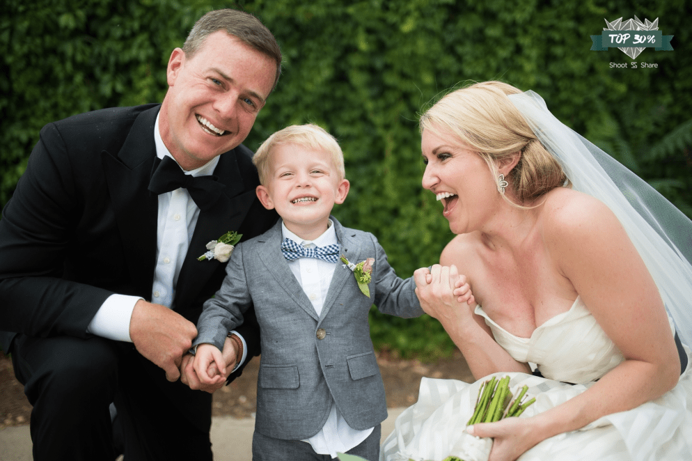 cute baby in bowtie at wedding photo