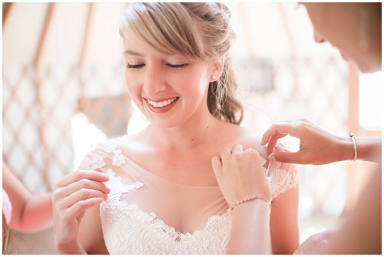 wedding dress with illusion neckline  photo