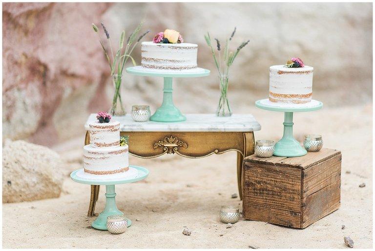 three naked cake photos