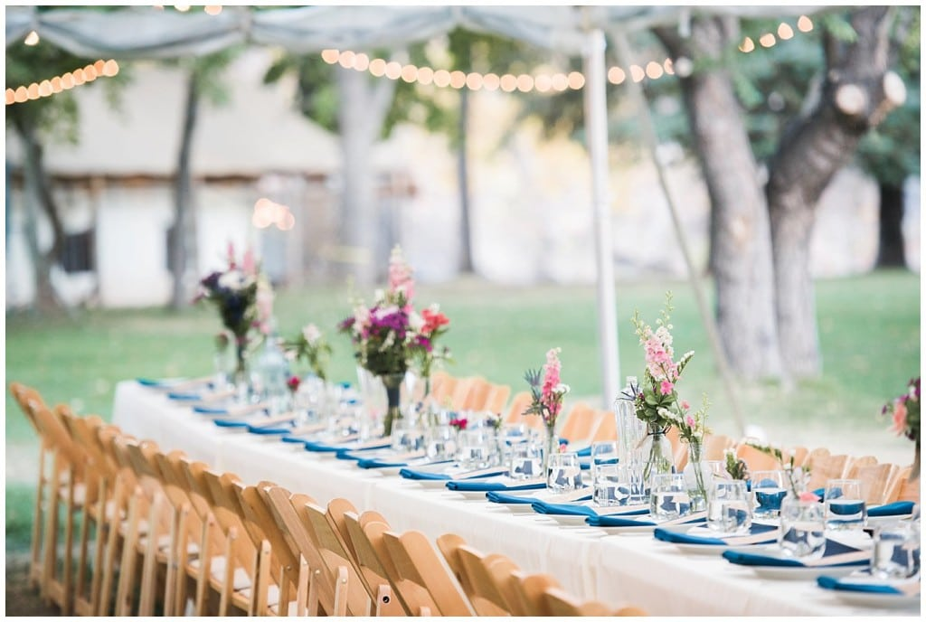 outdoor dining colorado wedding photo