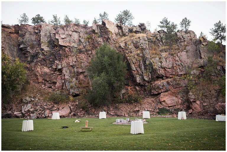 Lawn games on Lyons River Bend intimate wedding photo