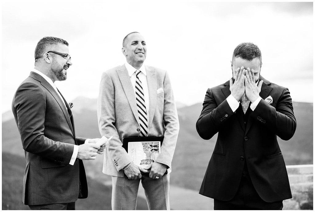 Vail Wedding Deck Same-sex wedding photo