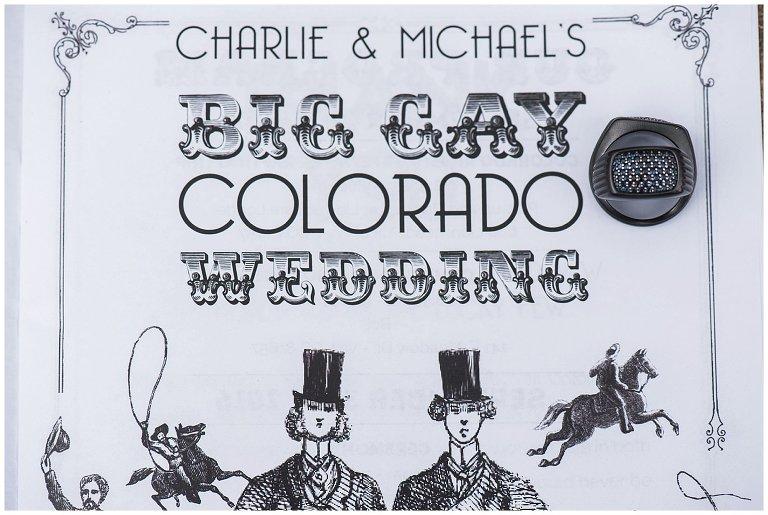 big gay wedding invitation photo
