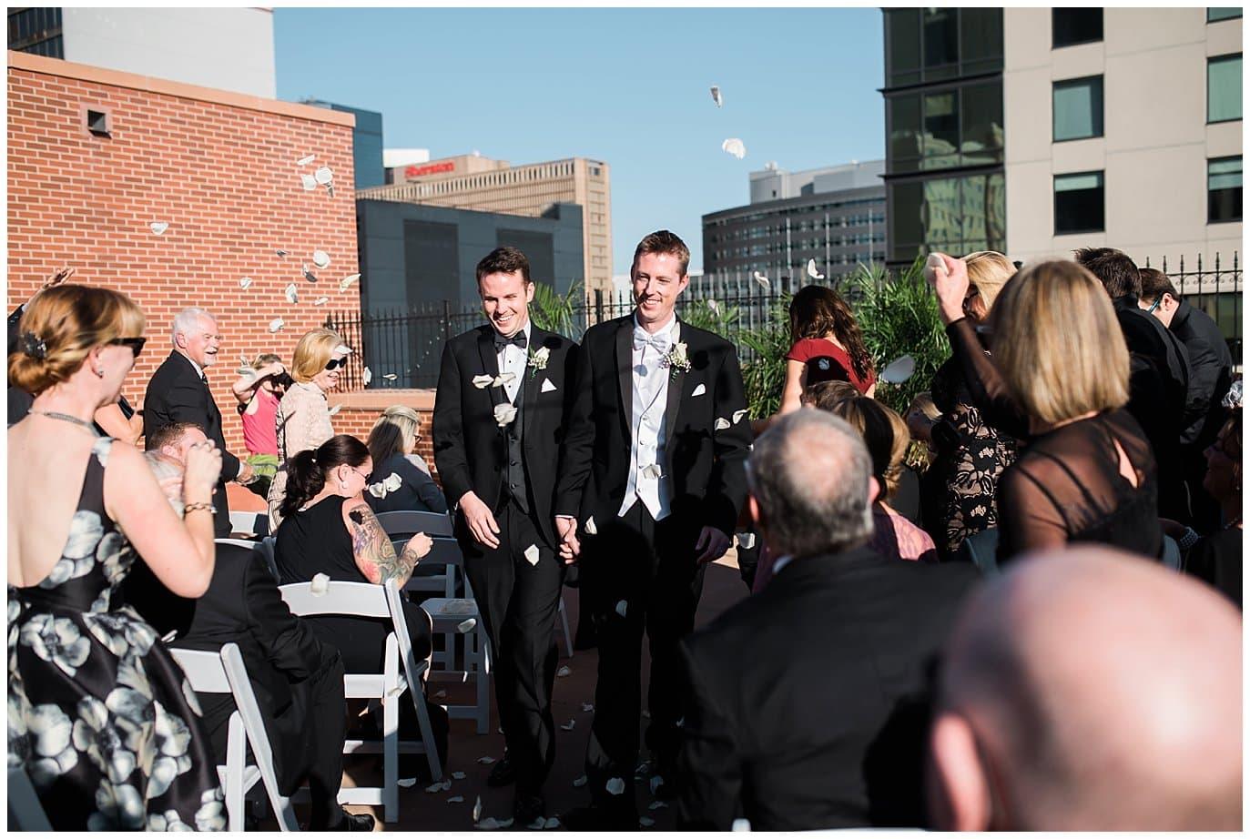 Denver Athletic Club same-sex wedding photo