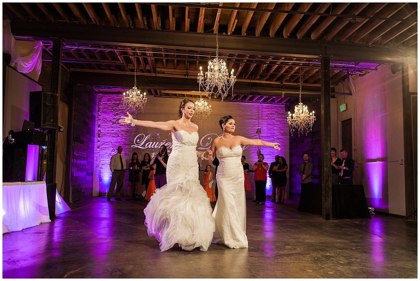 lesbian wedding first dance photo