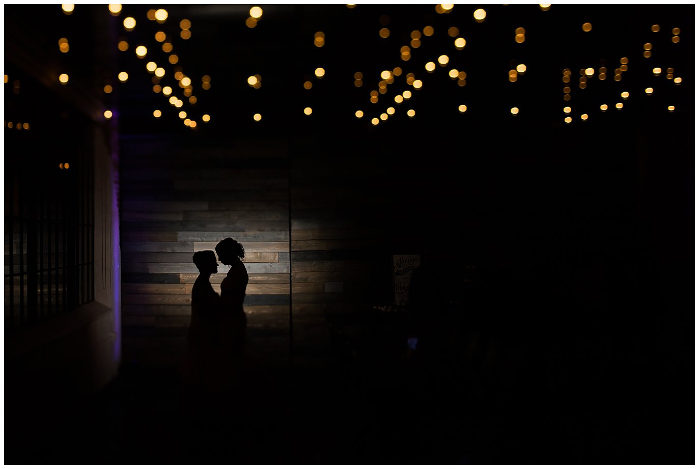 Moss Denver night wedding photo