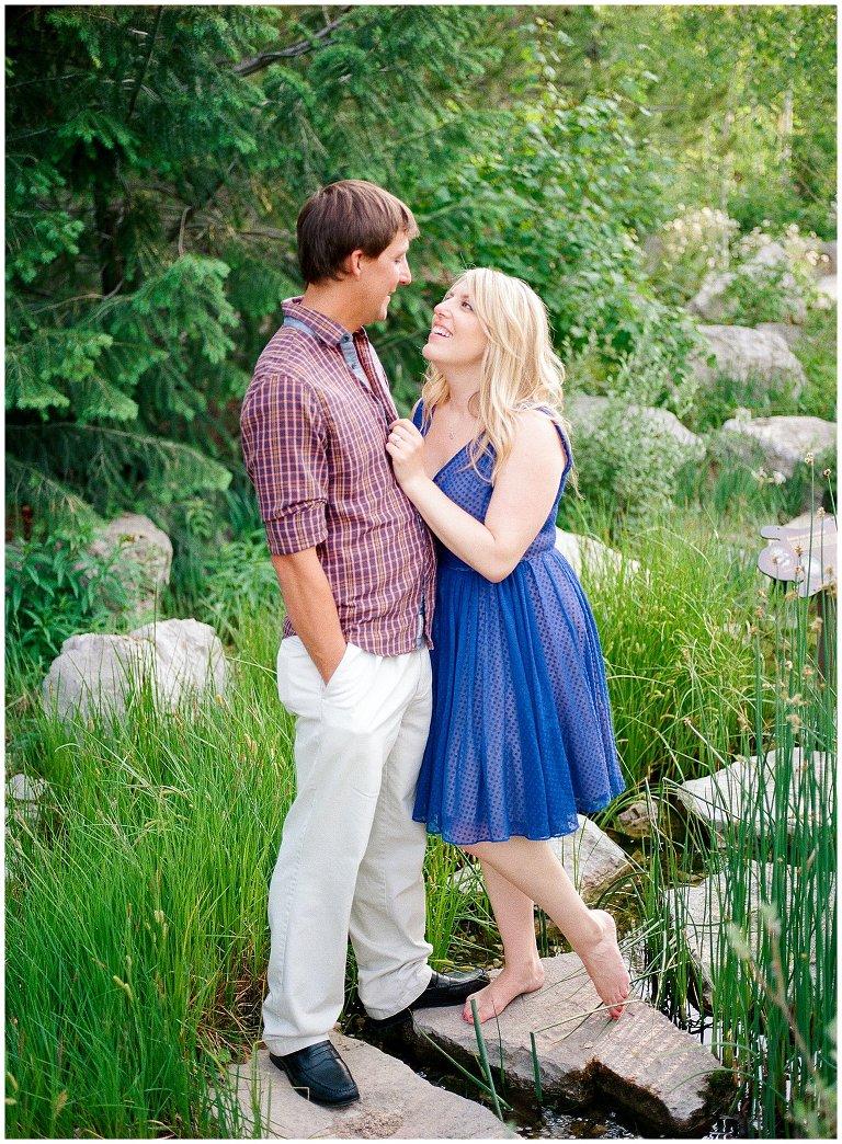Betty Ford Alpine Garden engagement photo
