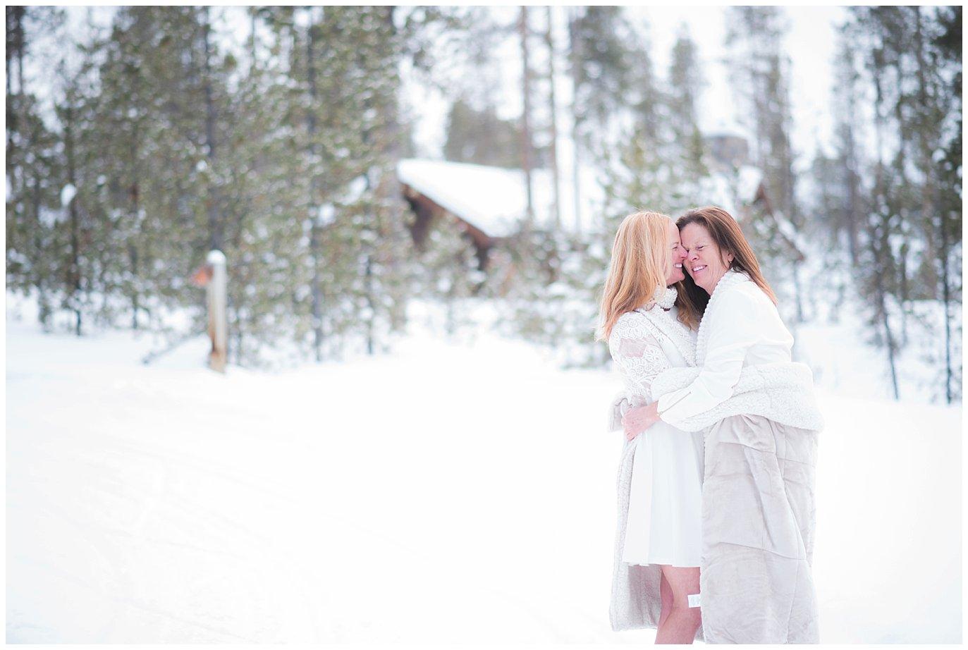 Devil's Thumb Ranch same-sex wedding photo