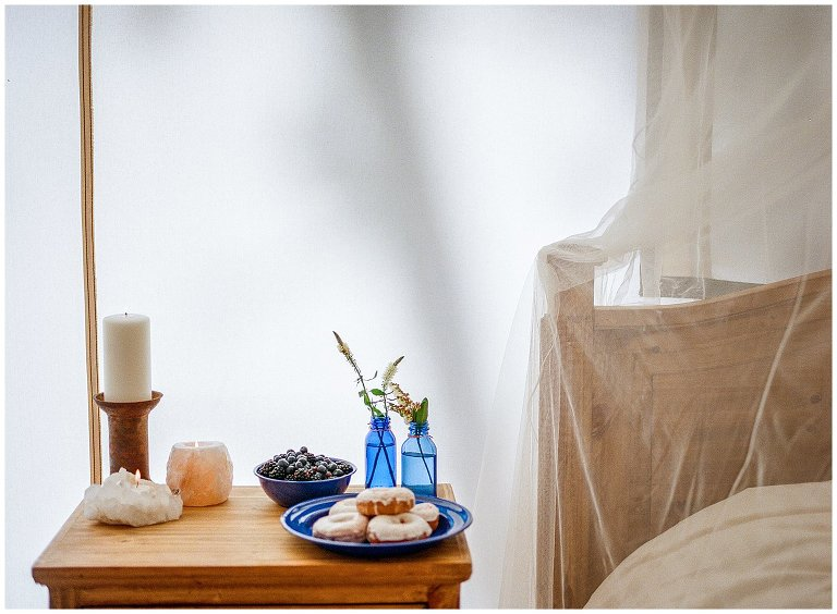 breakfast in bed glamping tent photo