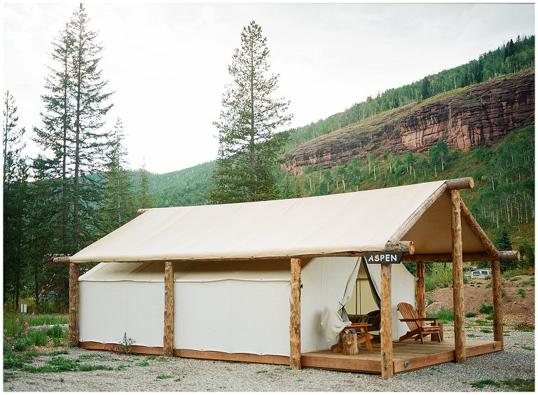 Piney River Ranch glamping tents photo