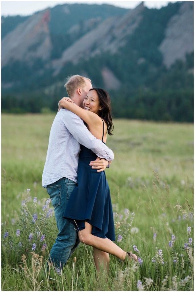 Chautauqua Park Boulder engagement photo