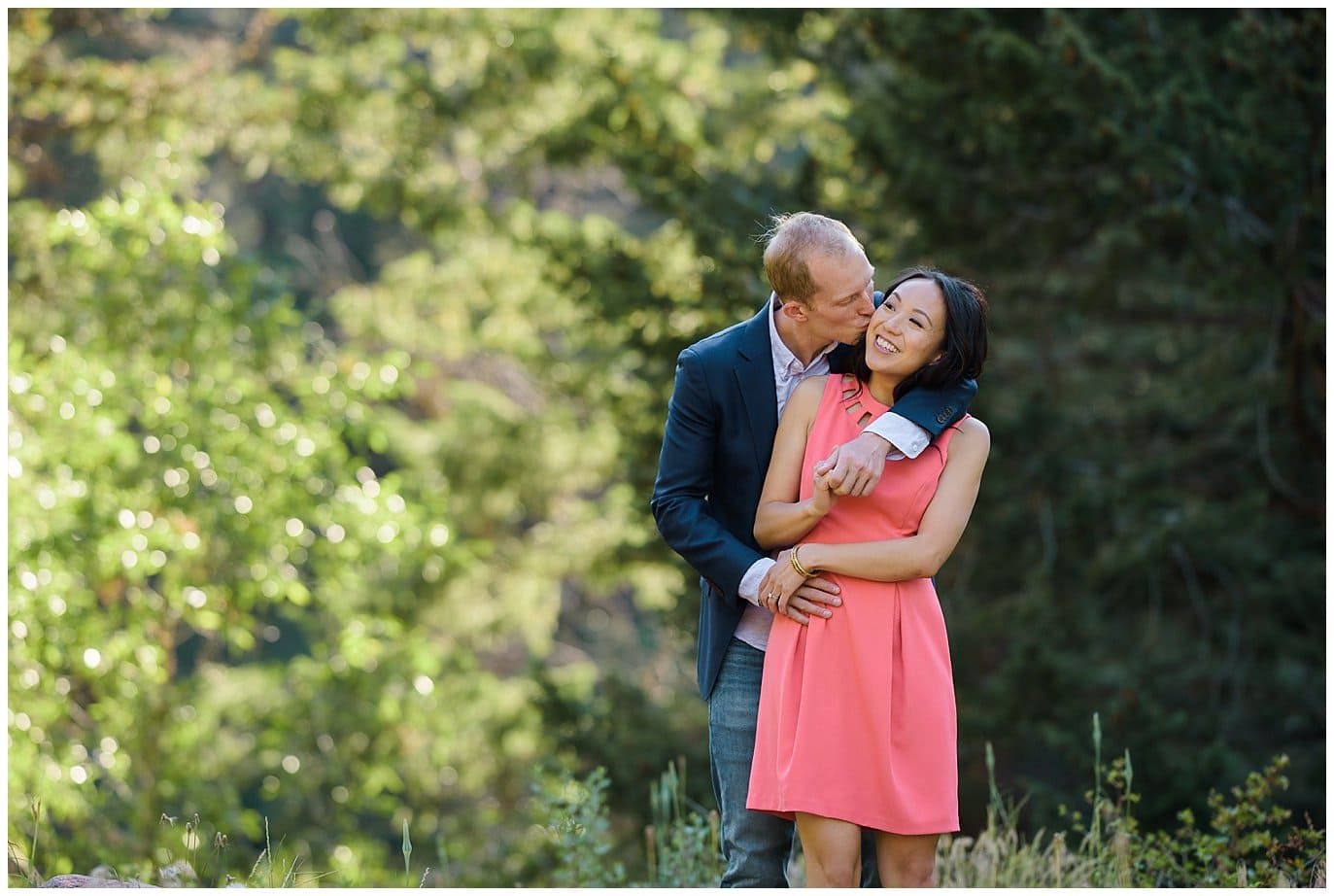 colorful summer colorado engagement photo