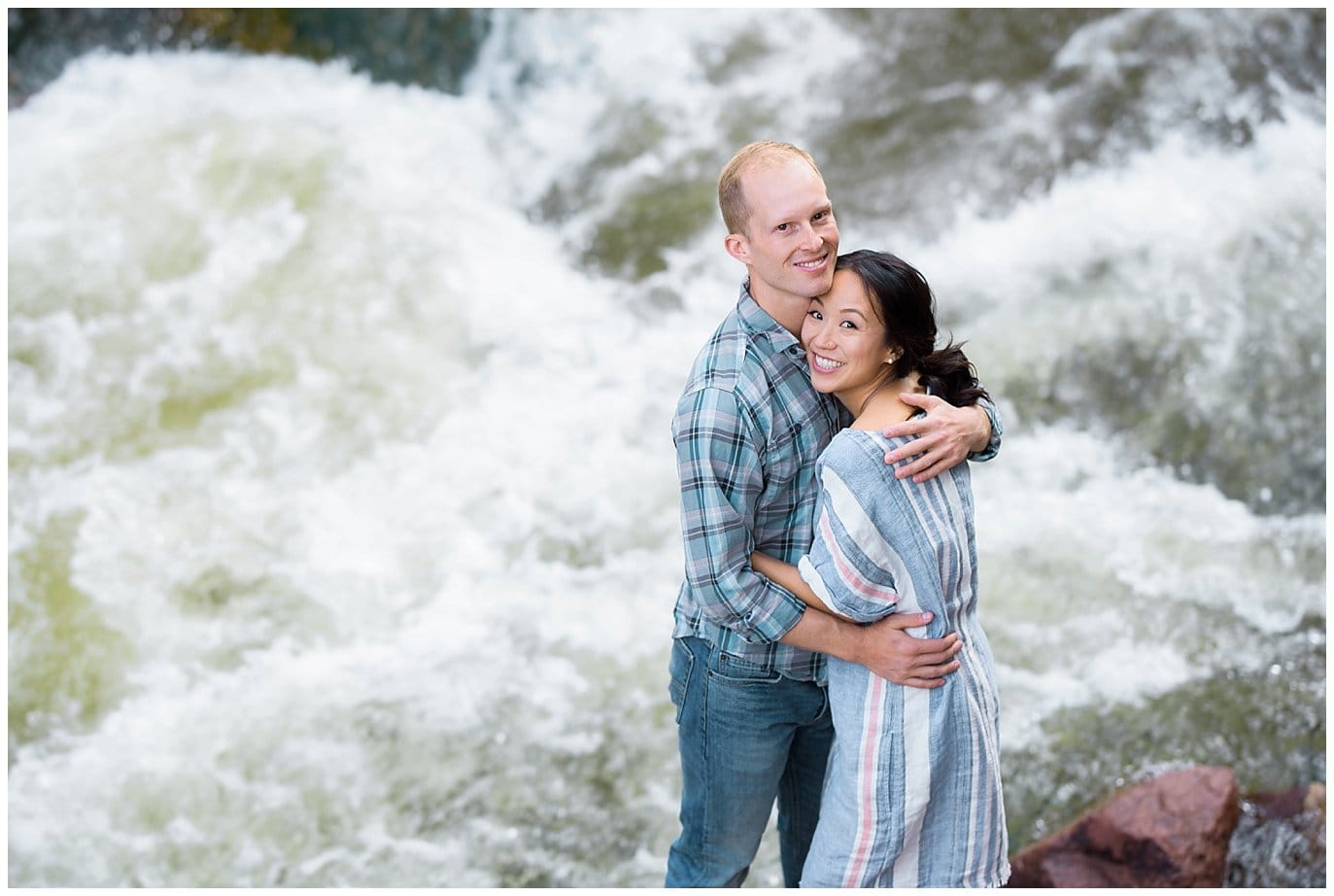 engagement photo by the river colorado photo