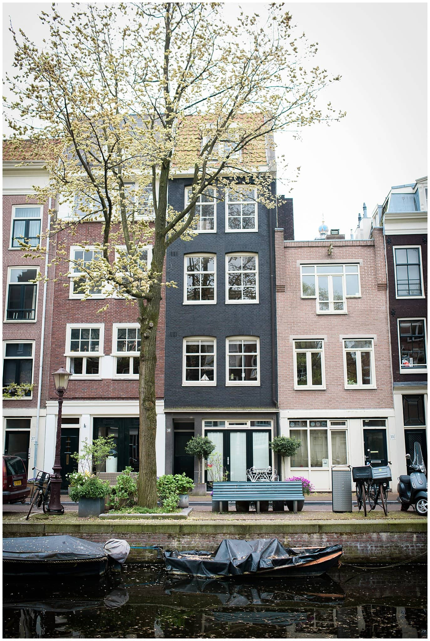Amsterdam Jordaan neighborhood engagement photo