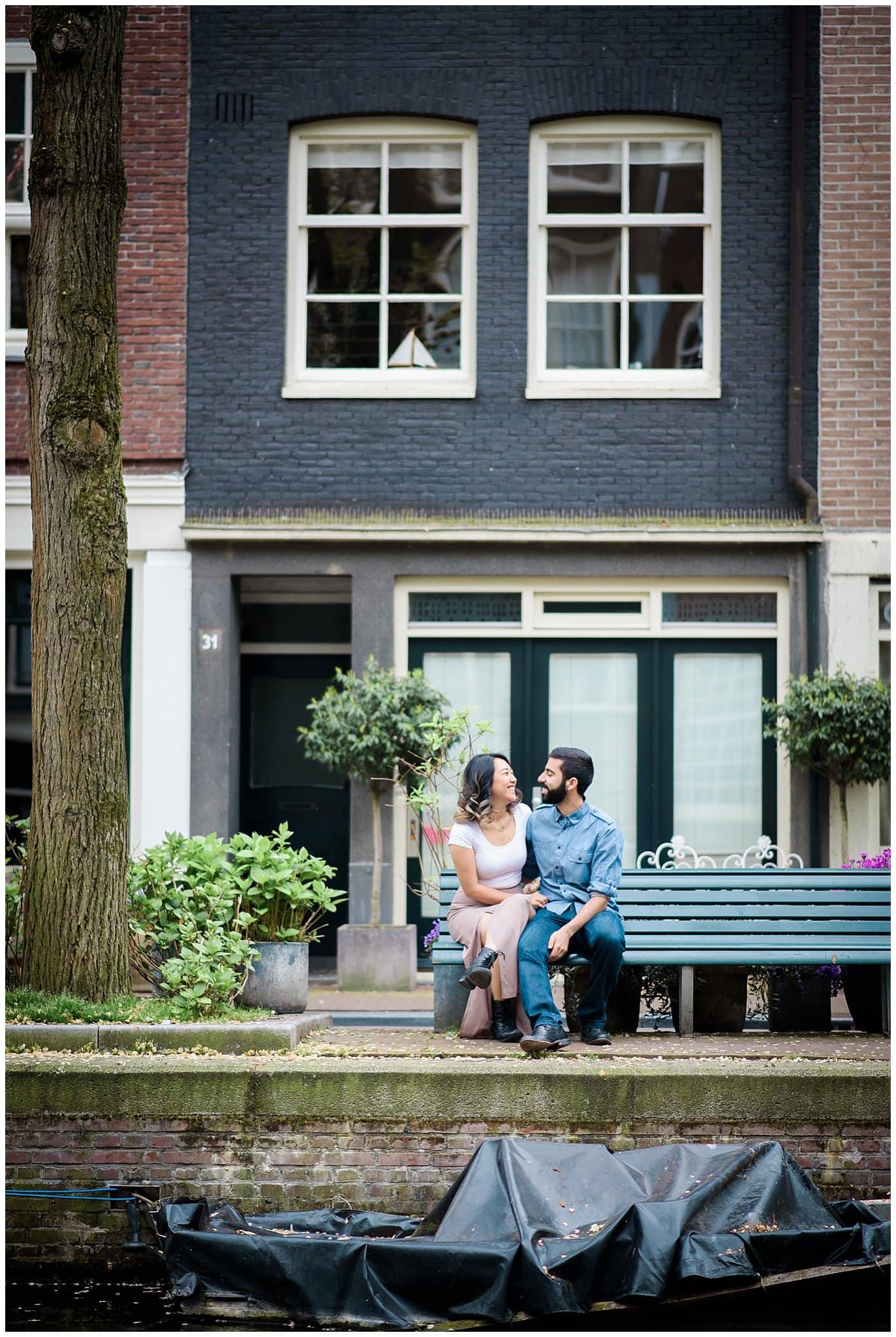 Netherlands canal engagement photo