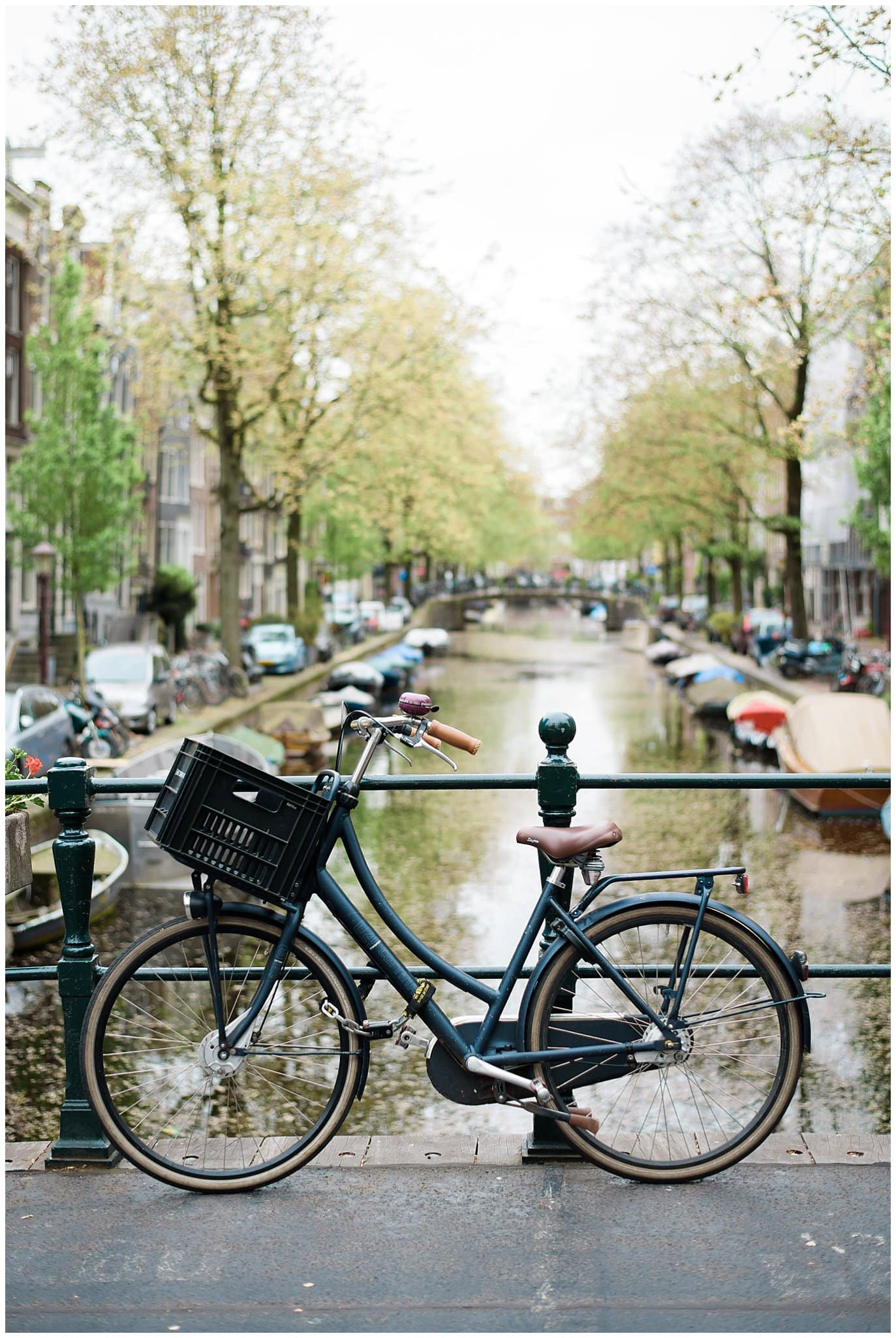 canals in Amsterdam engagement photo