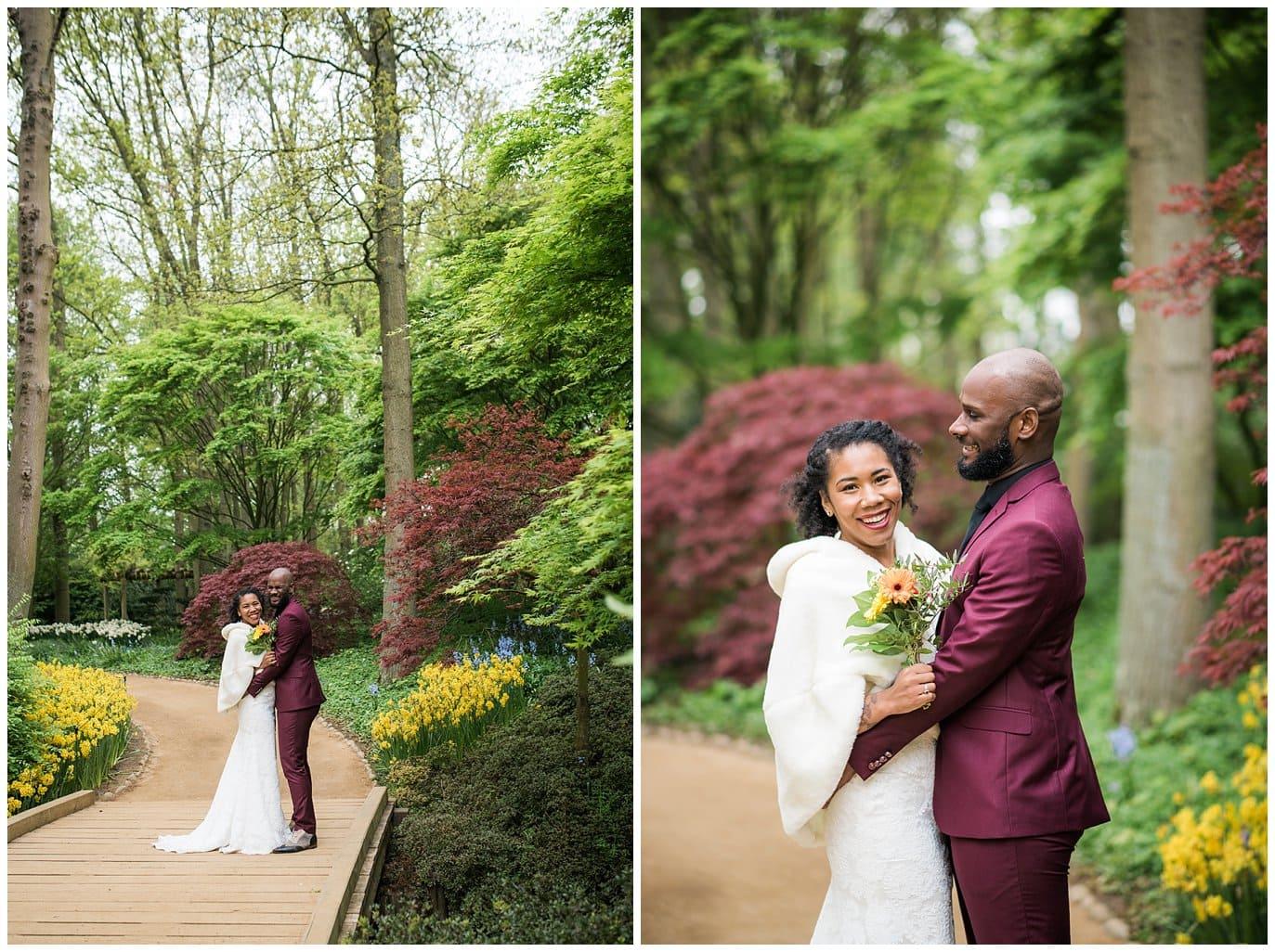 Amsterdam garden wedding photo