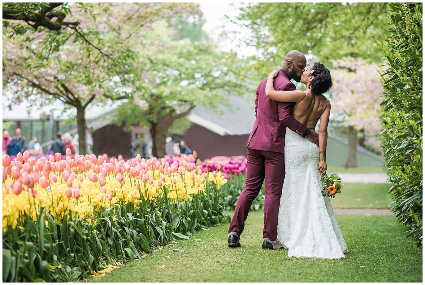 Netherlands tulip wedding photo