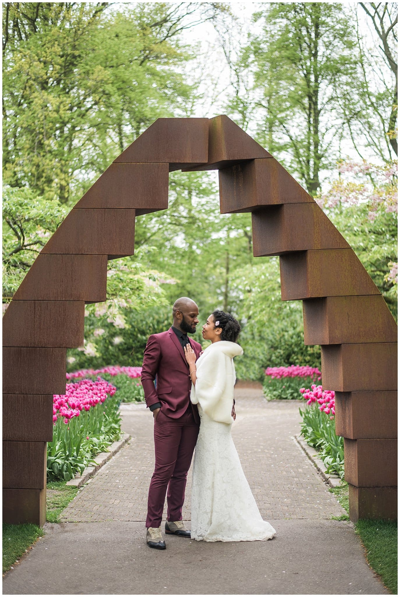 wedding in the dutch tulips
