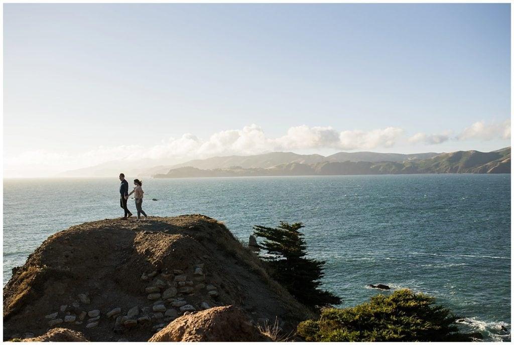 San Francisco Bay engagement photo
