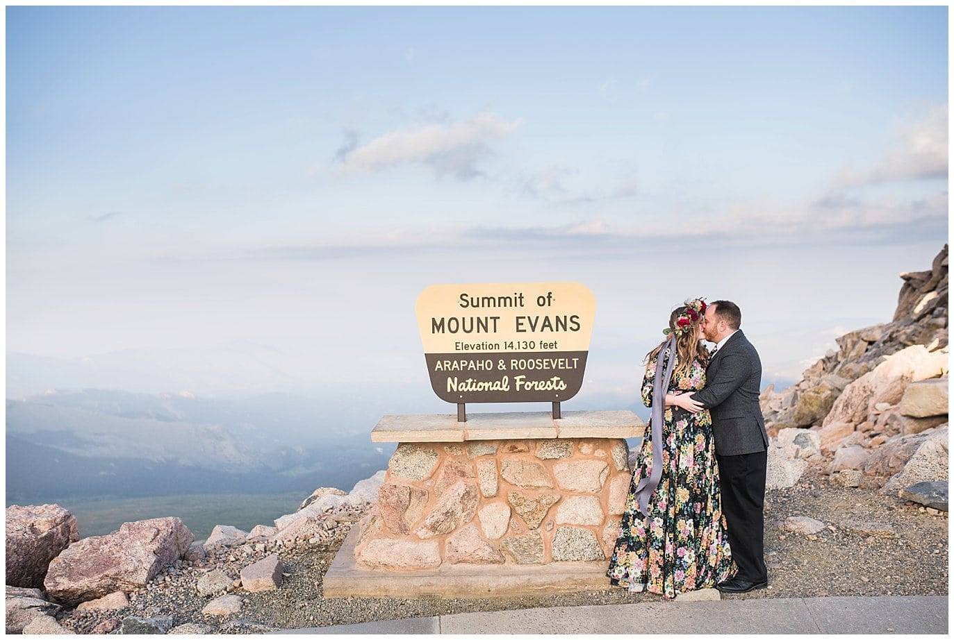 Mt. Evans Summit elopement photo