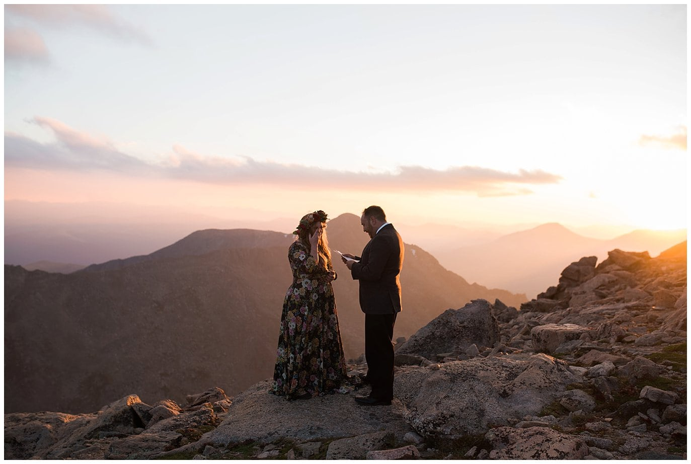 Mt. Evans Sunset Elopement photo