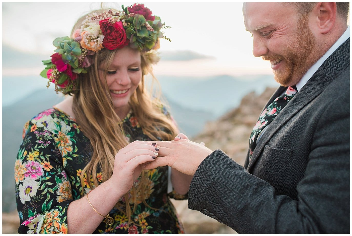 ring exchange elopement photo