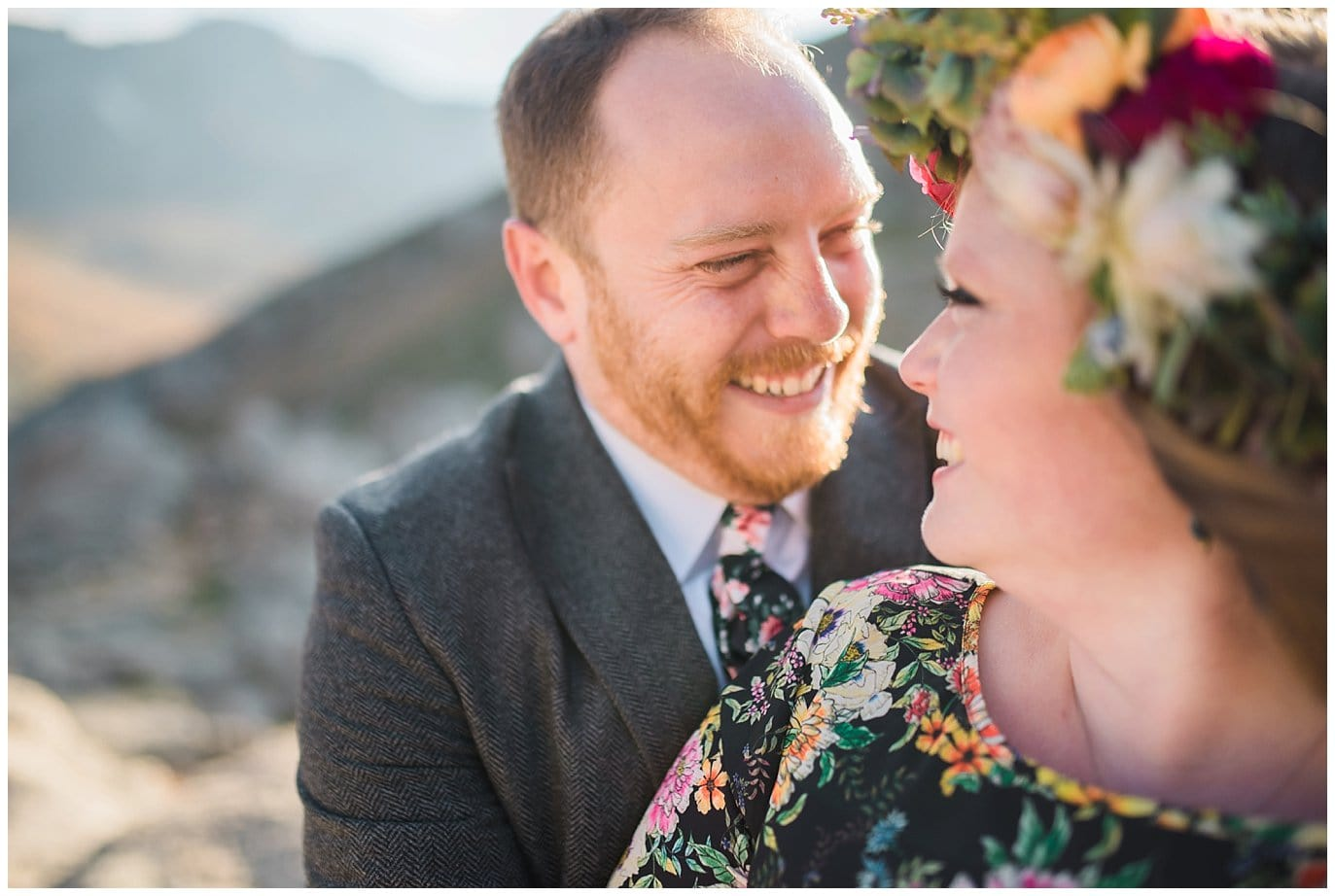smiling groom at colorado elopement photo