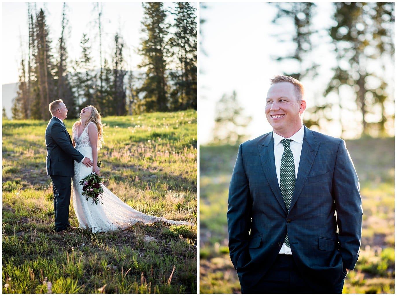 Vail Wedding Deck wedding photo