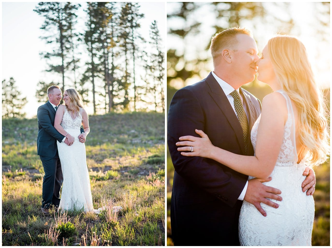sunset colorado mountain wedding photo