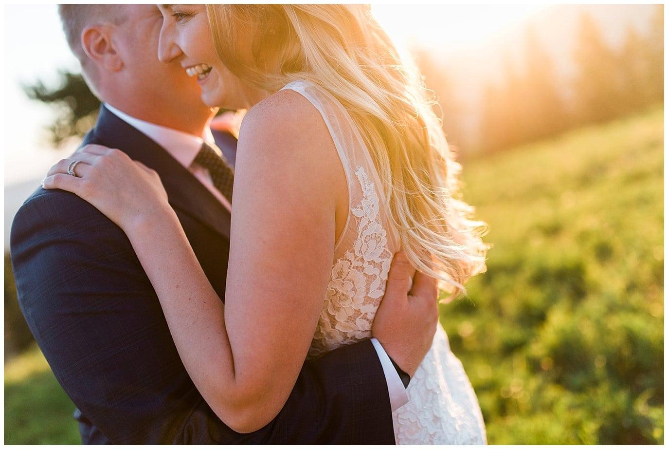 colorado sunset wedding photo