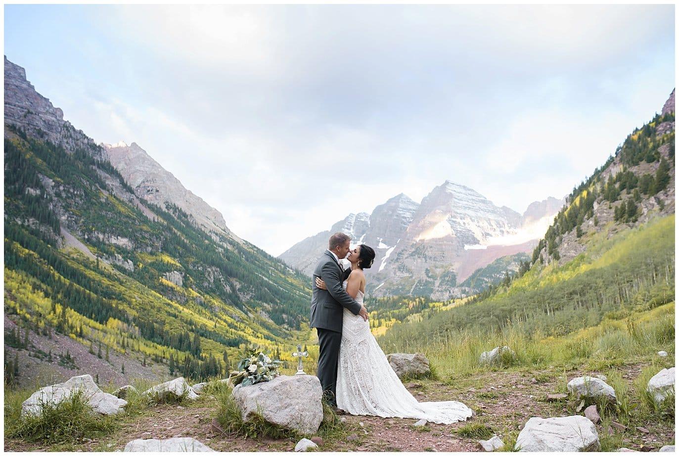 Maroon Bells Aspen Colorado elopement photo