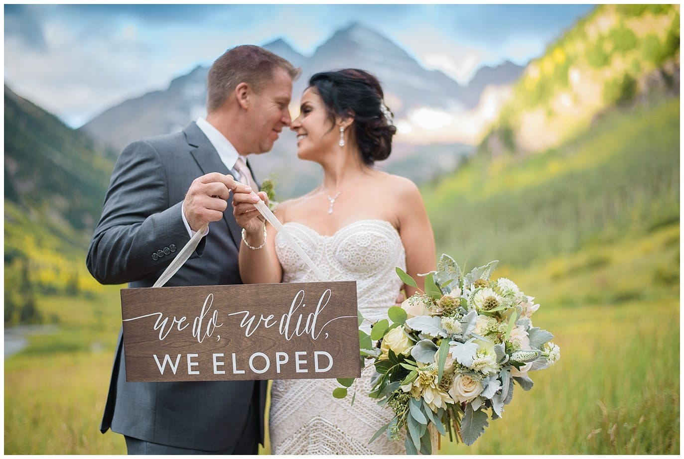 hand lettered elopement sign photo
