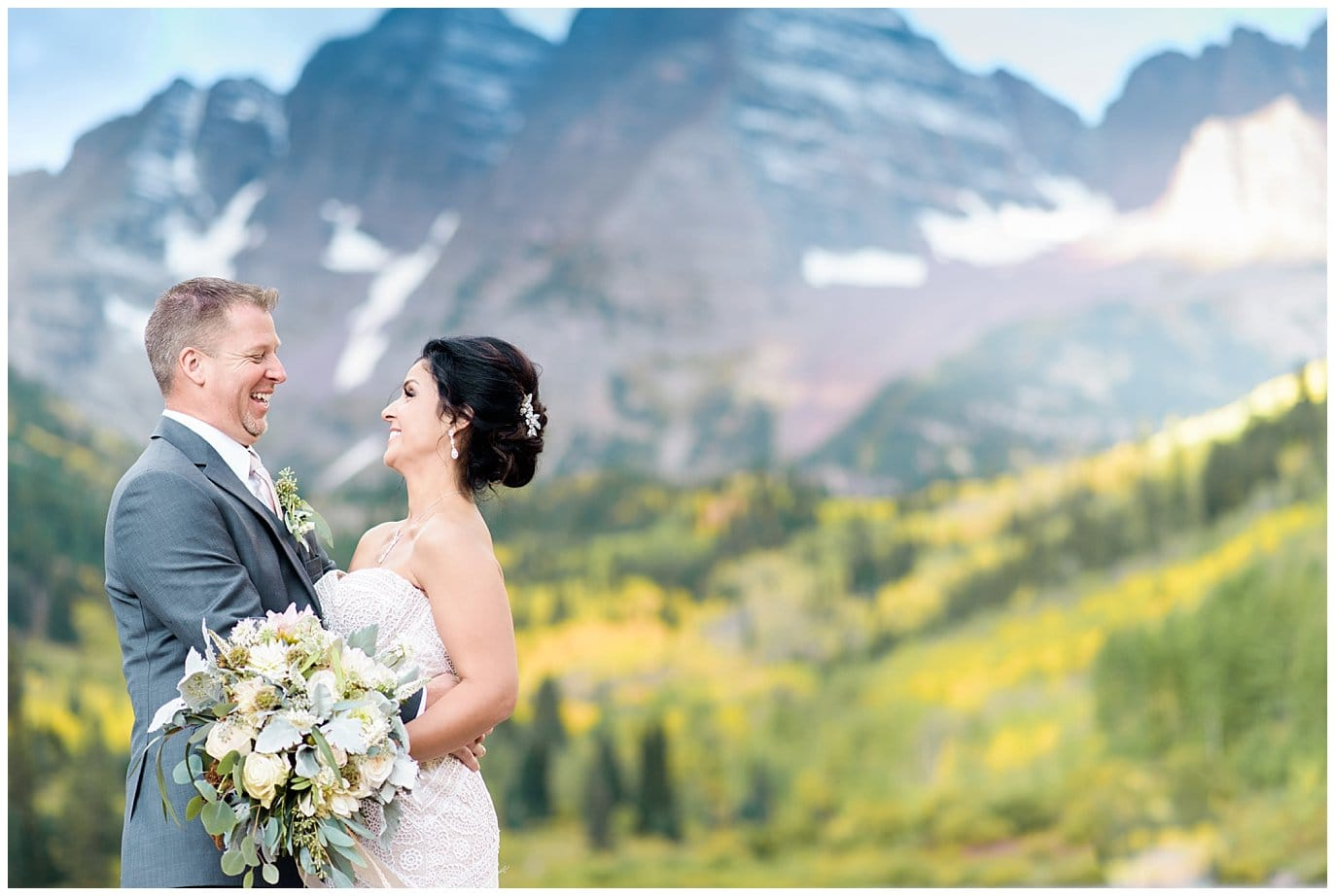 getting married at Maroon Bells Colorado photo