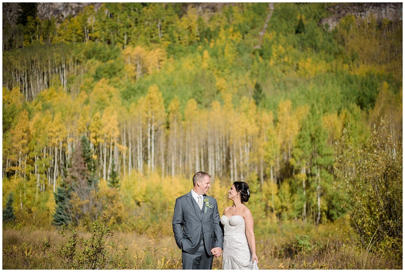 fall elopement in the colorado aspens photo