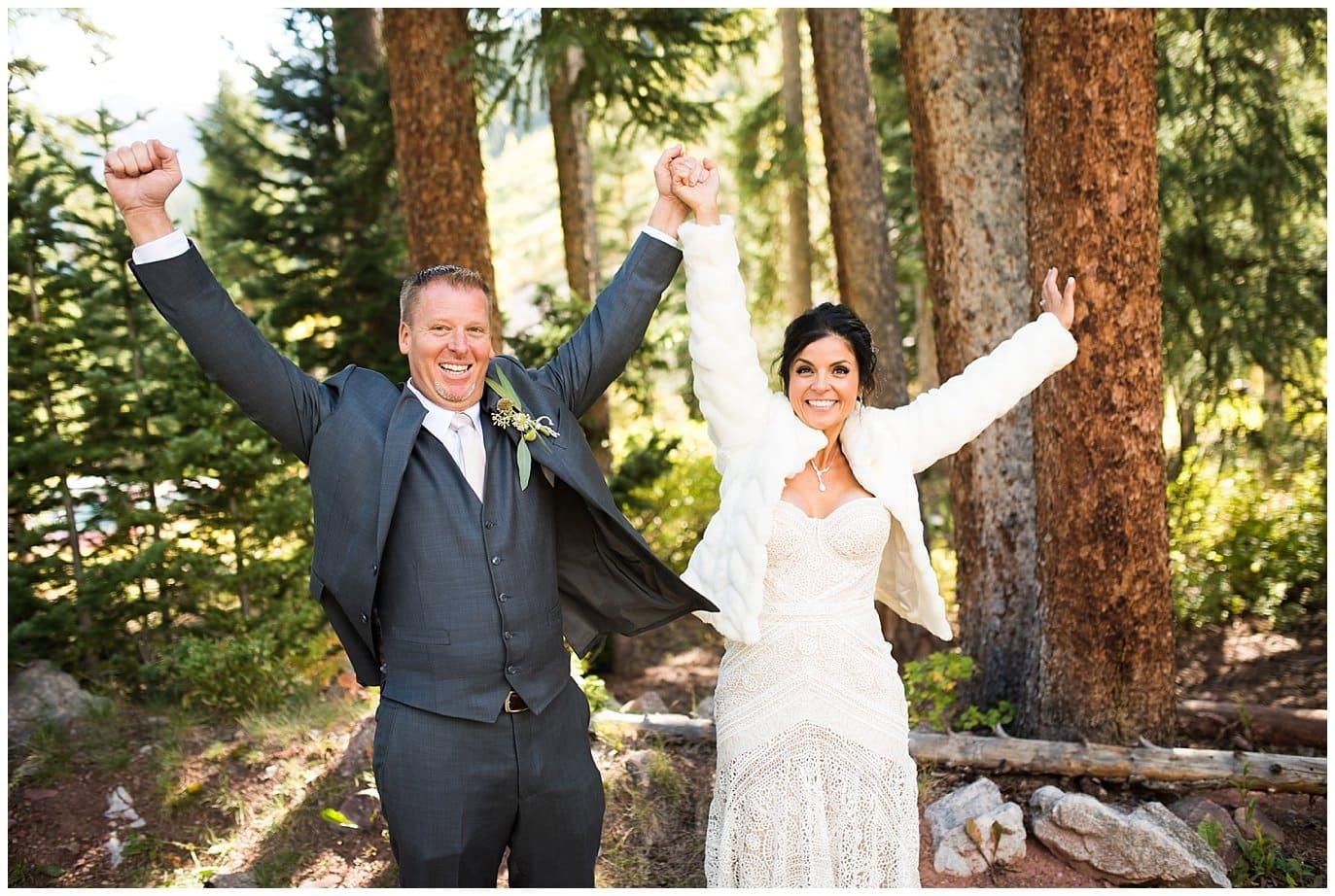 Colorado wedding celebration photo