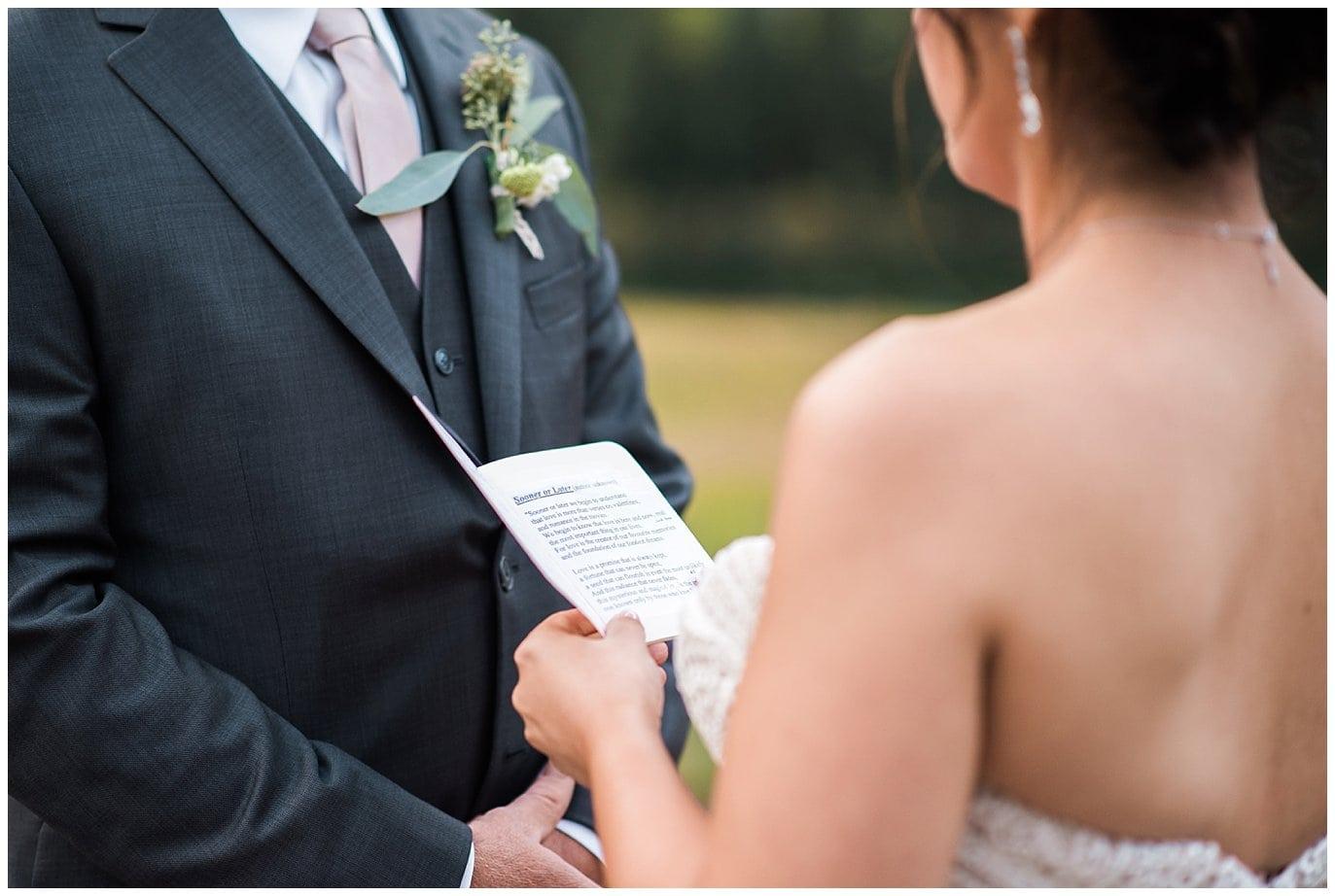 personal vows, colorado elopement photo