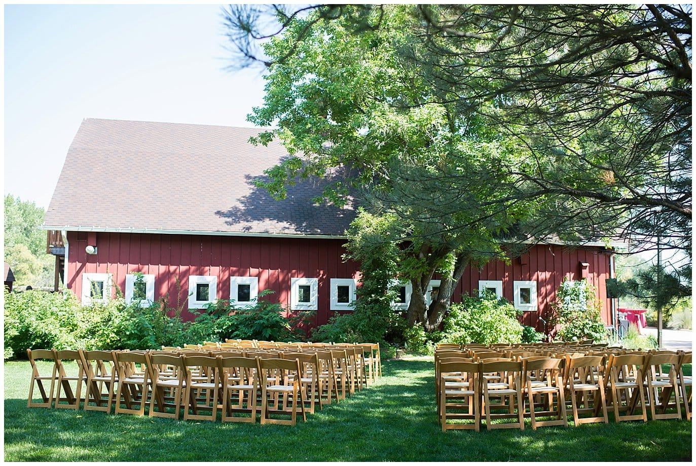 barn wedding ceremony site photo