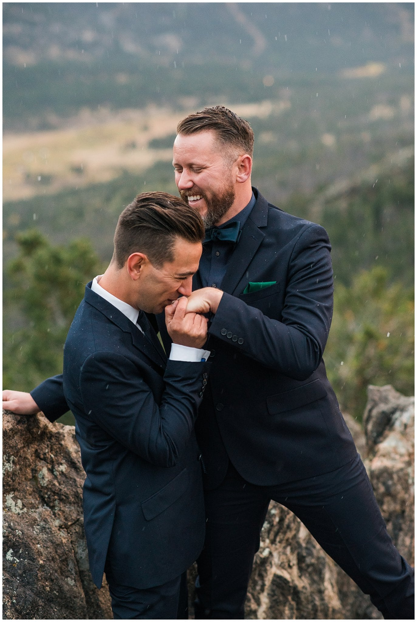 intimate colorado wedding photo